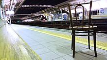 上り電車はスカスカ