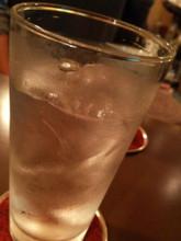 ほぼ原液の水割り