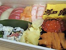 恒例の寿司支給